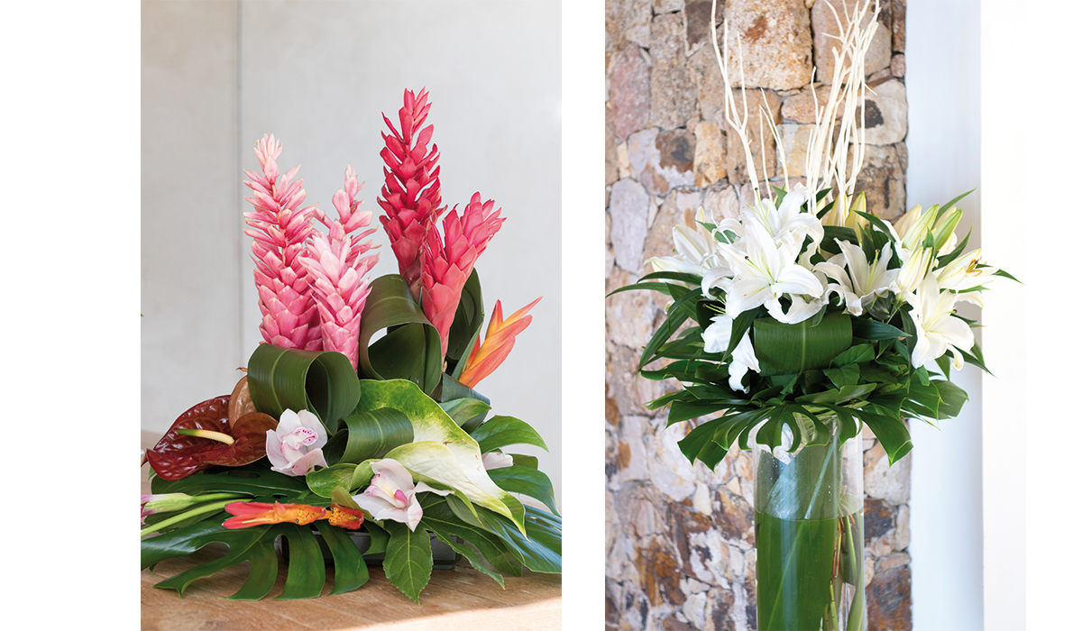 Compositions florales saint barth la vie en roses for Compositions florales